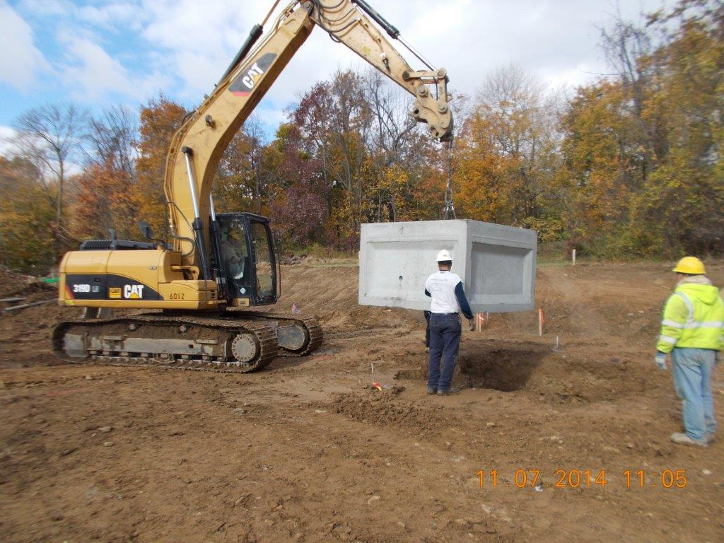Excavator and Septic Tank
